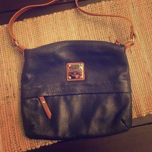 Black and brown Valentina crossbody bag